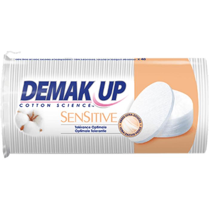 Sensitive 48 cotons ovales à démaquiller Demak up-220771