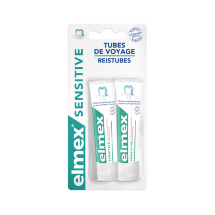 Sensitive dentifrice voyage 2 x 12ml Elmex-221481