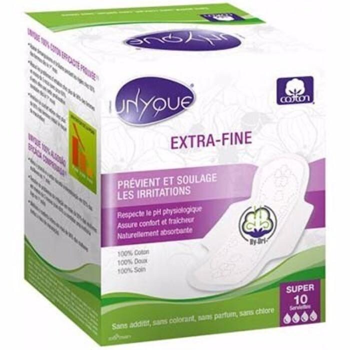 Serviette hygiénique extra-fine super x10 Unyque-214589