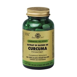 Sfp curcuma - 60.0 unites - plantes standardised full potency - solgar -140981