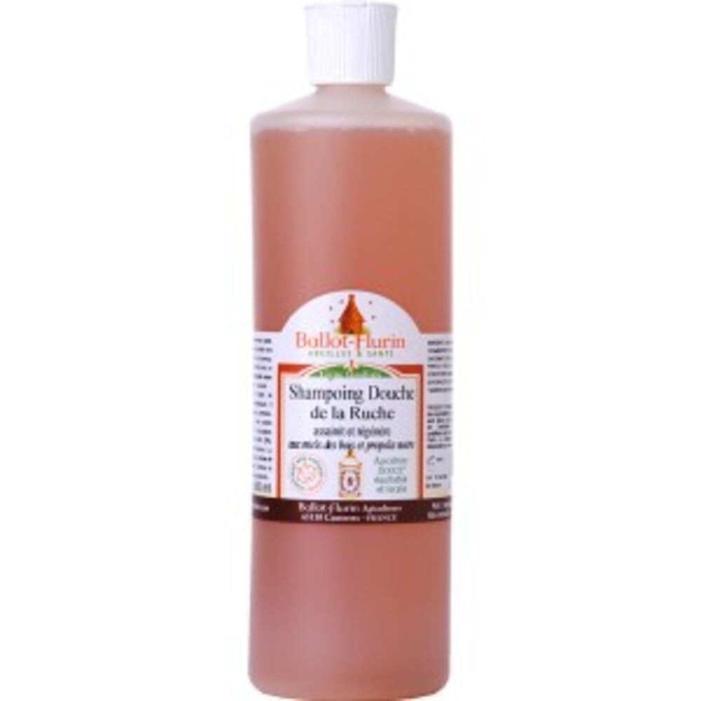 Shampoing douche assainissant propolis-miel bio - 500.0 ml - apithérapie - ballot flurin aux miels des bois et propolis noire-11562