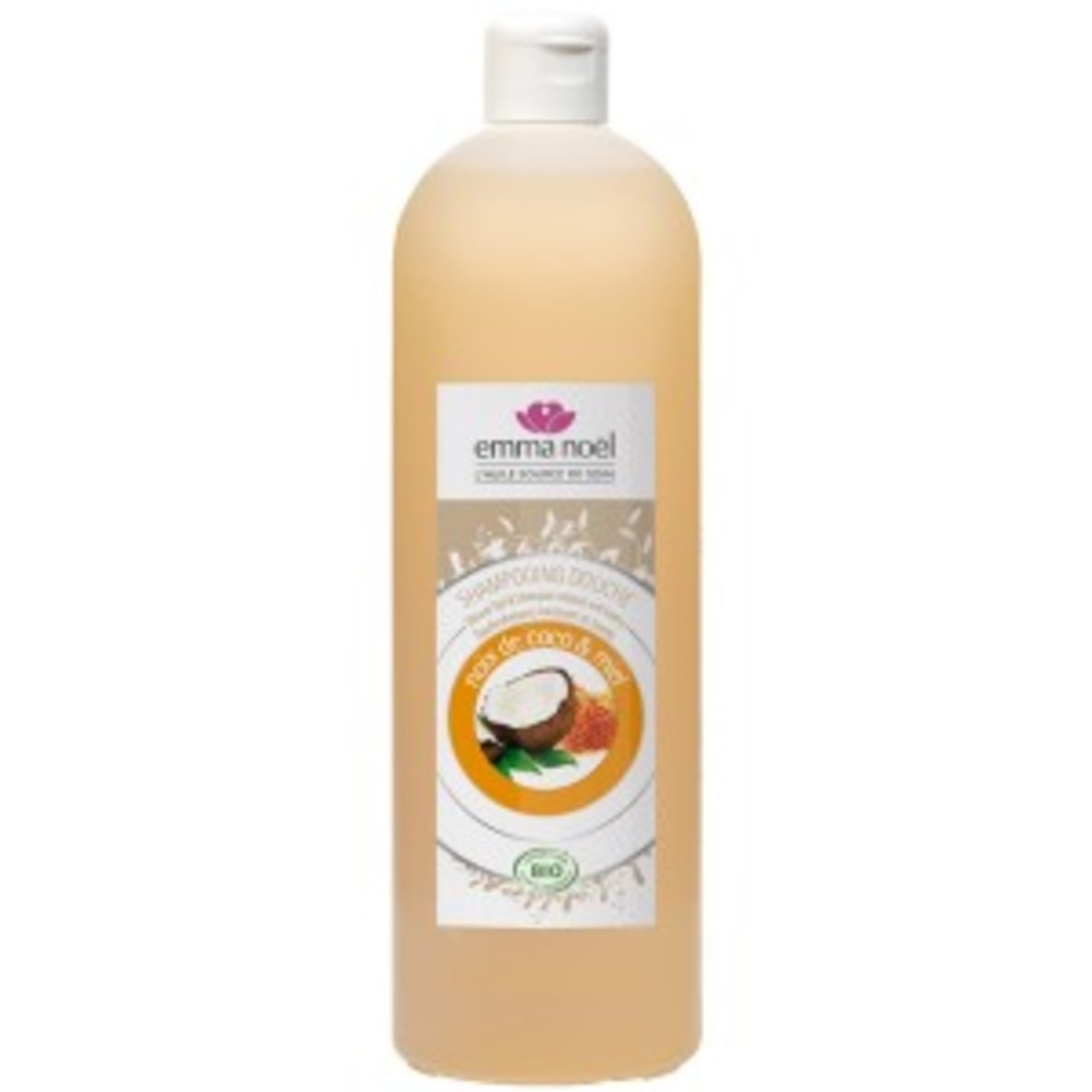 Shampoing miel et extraits de coco bio - 1000.0 ml - shampoings - emma noël -6694