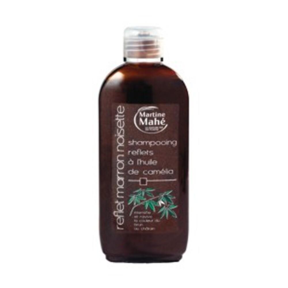 Shampoing reflets marron noisette à l'huile de camélia - 200.0 ml - les shampoings reflets à l'huile de camélia - martine mahé Du brun au châtain-4748