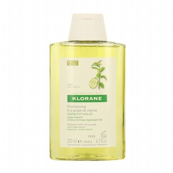 Shampooing à la pulpe de cédrat 200ml Klorane-81923