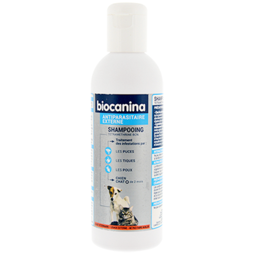 Shampooing antiparasitaire chien et chat 200ml - biocanina -206021