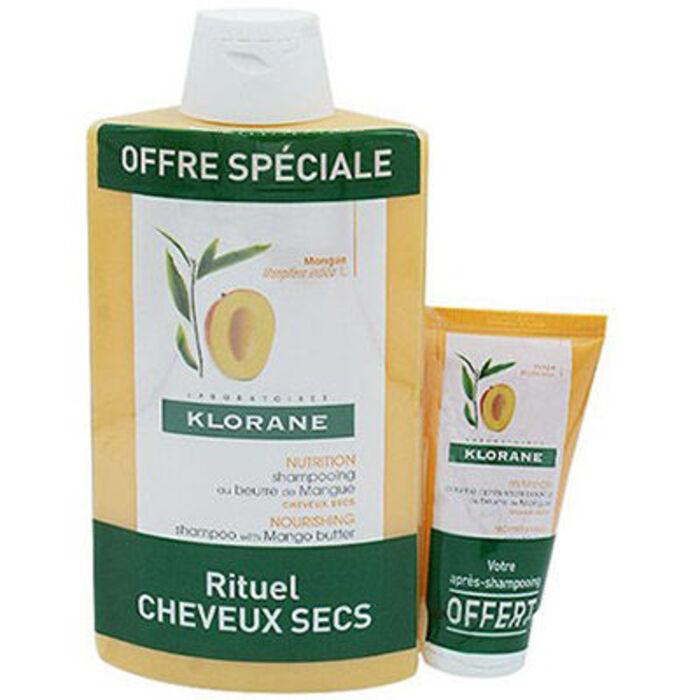 Shampooing au beurre de mangue 400ml + baume 50ml offert Klorane-222073