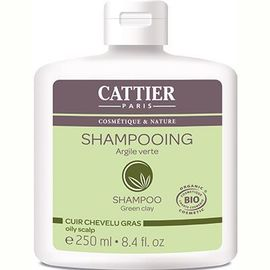 Shampooing cheveux gras argile verte bio - 250.0 ml - shampooings - cattier Cheveux gras-1512
