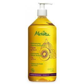 Shampooing douche extra doux bio 1l - les shampooings et demelants - melvita -213461