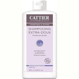 Shampooing extra doux quotidien bio 1l - 1000.0 ml - shampooings - cattier Extra doux-8298