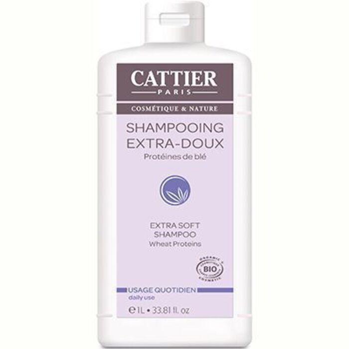 Shampooing extra doux quotidien bio 1l Cattier-8298