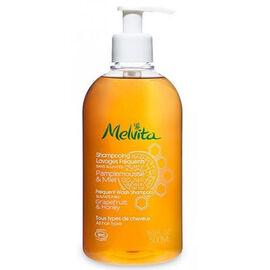 Shampooing lavages fréquents bio 500ml - les shampooings et demelants - melvita -213465