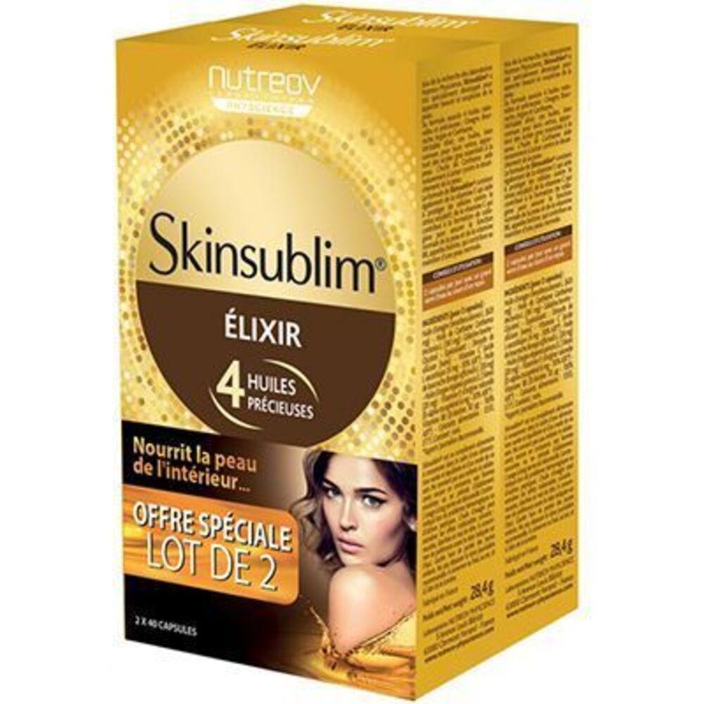 Skinsublim elixir lot de 2x40 capsules Nutreov-224420