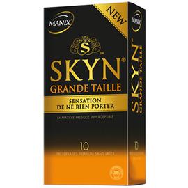 Skyn grande taille 10 préservatifs - manix -148220
