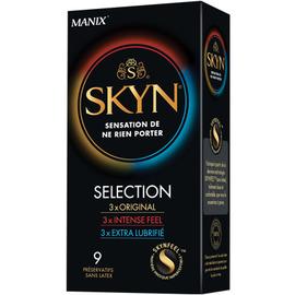 Skyn sélection 9 préservatifs - 9.0 unites - préservatifs - manix -142901