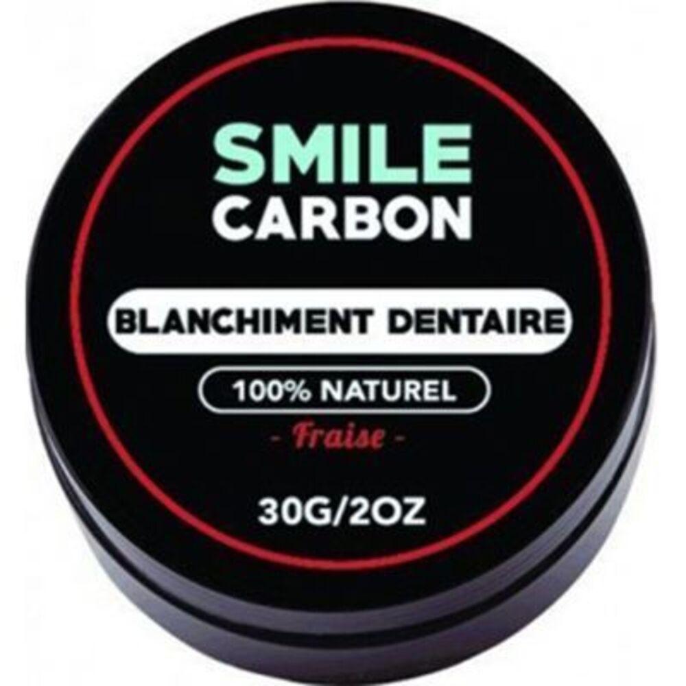 Smile carbon blanchiment dentaire fraise 30g - smile-carbon -226055