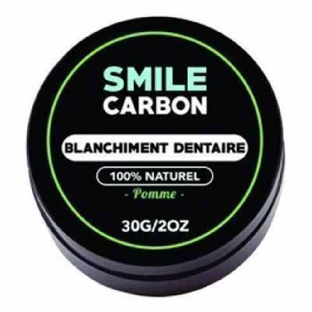Smile carbon blanchiment dentaire pomme 30g - smile-carbon -223577