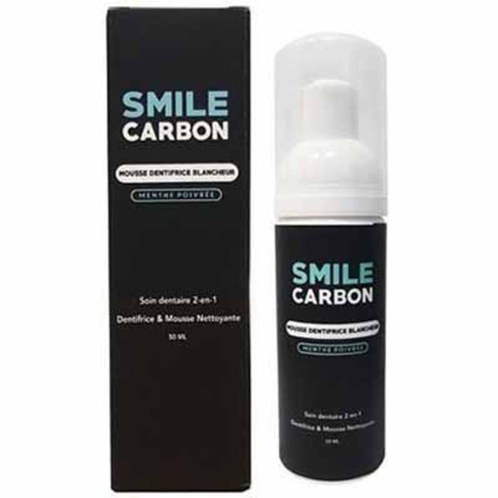 Smile carbon mousse dentifrice blancheur menthe poivrée 50ml - smile-carbon -223579