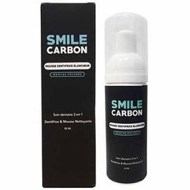 Smile carbon mousse dentifrice blancheur menthe poivrée 50ml - smile-carbon -223579