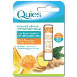Soin des lèvres stick peaux sensibles miel & gingembre 4,5g - quies -221300