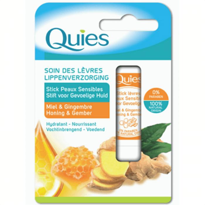 Soin des lèvres stick peaux sensibles miel & gingembre 4,5g Quies-221300