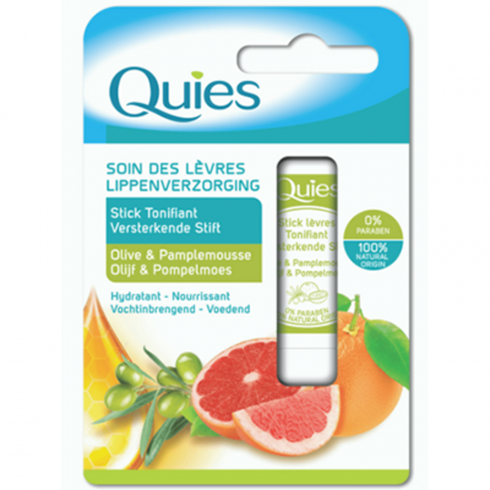 Soin des lèvres stick tonifiant olive & pamplemousse 4,5g Quies-221297