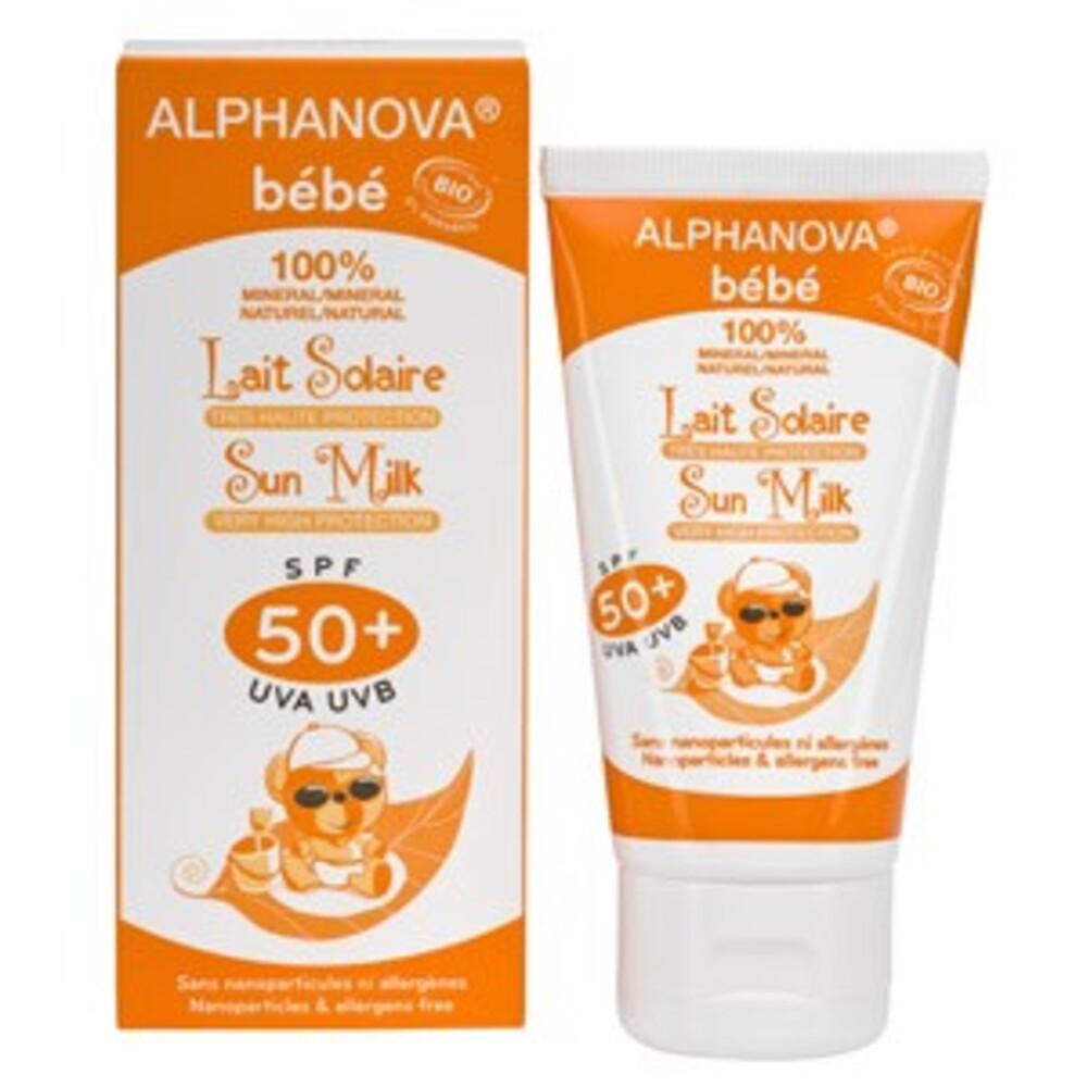 Soin solaire bébé spf 50+ bio - 50 g - divers - alphanova -133350