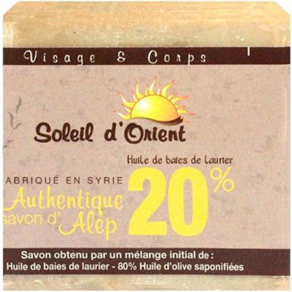 Soleil d'orient savon d'alep 20% 200g - soleil orient -214071