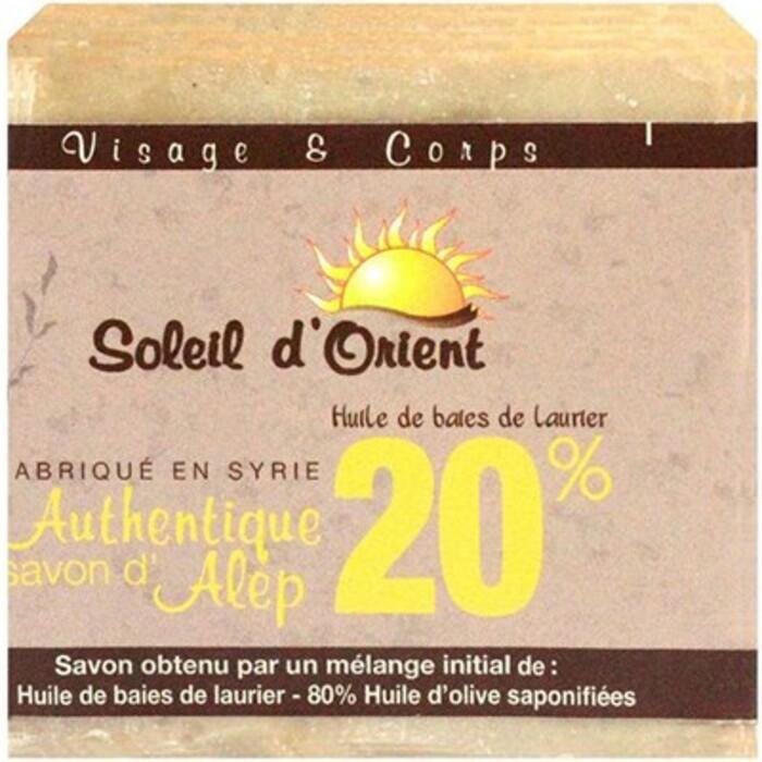 Soleil d'orient savon d'alep 20% 200g Soleil orient-214071