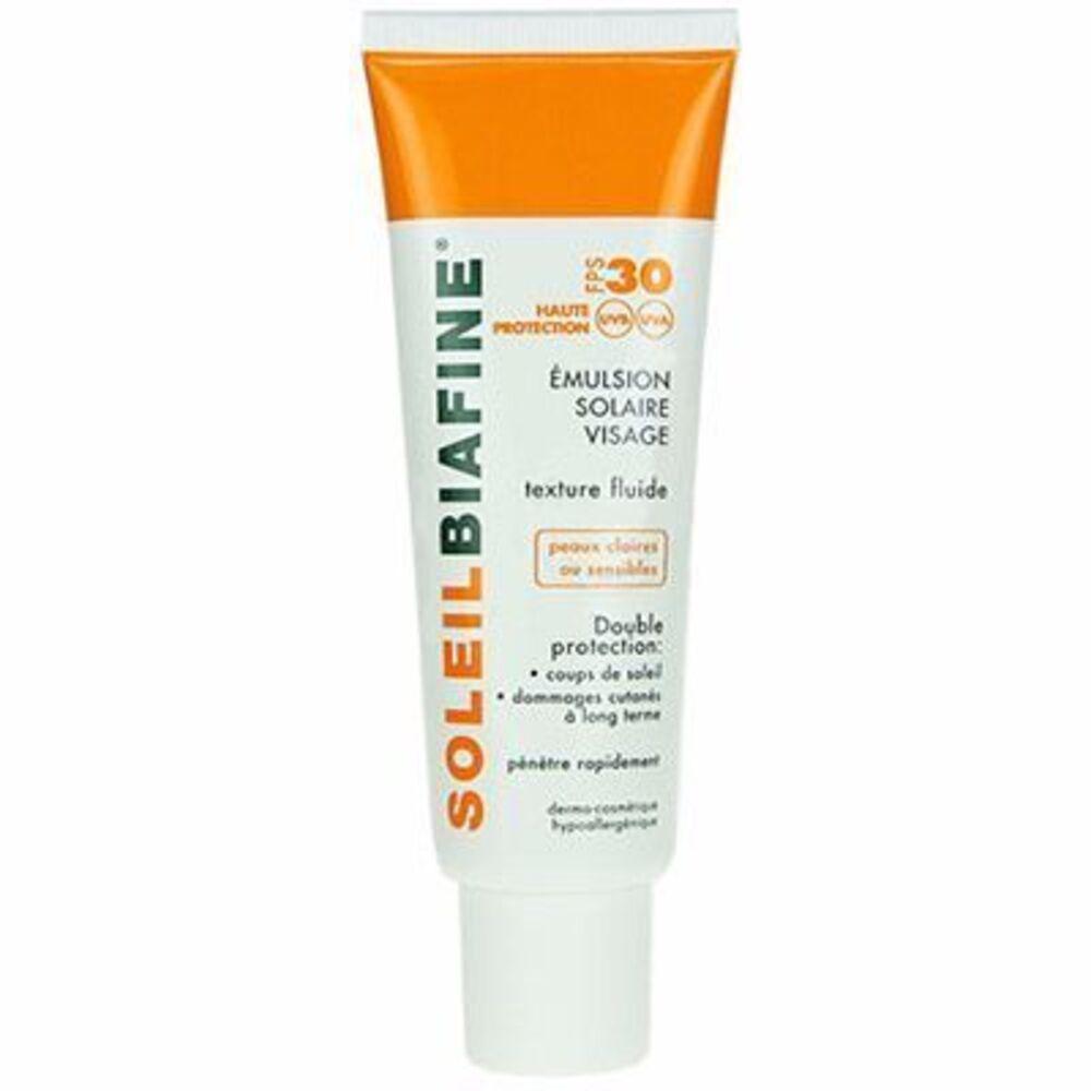 Soleilbiafine emulsion solaire visage spf30 50ml - 50.0 ml - solaire - soleilbiafine -142847
