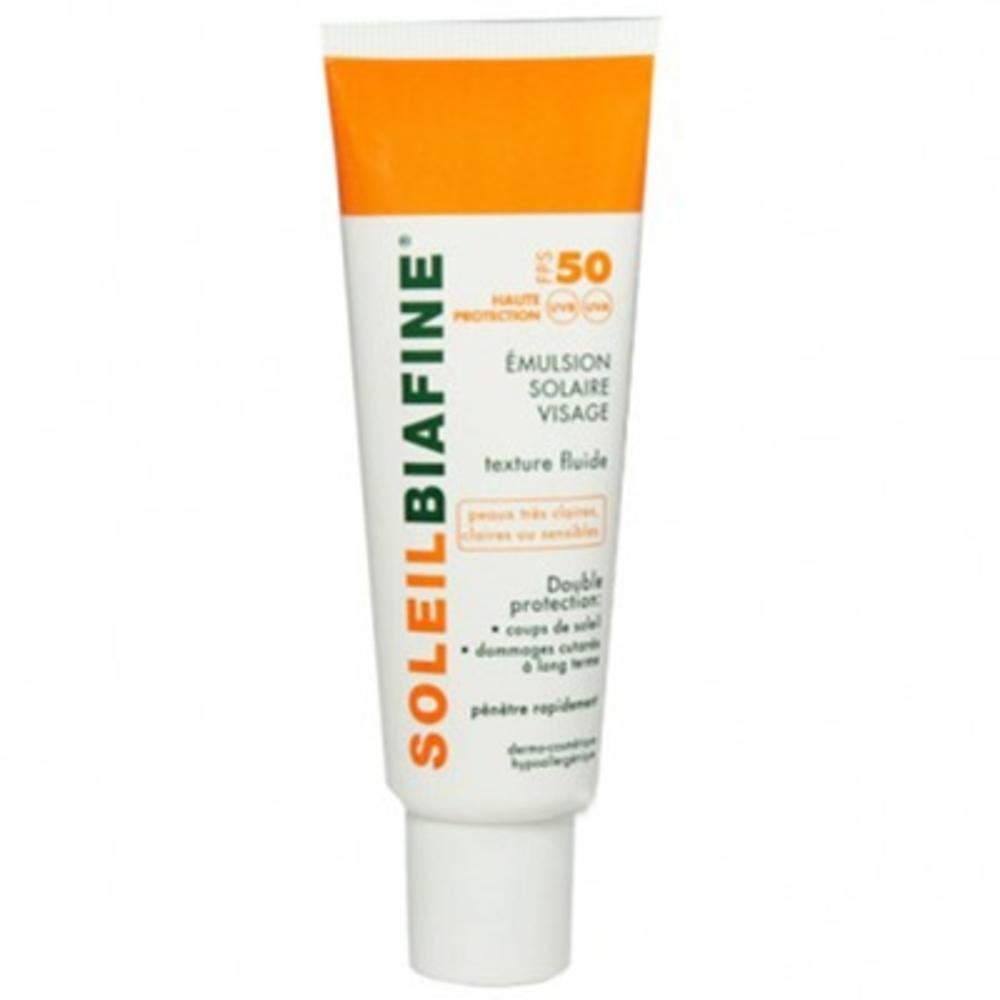 Soleilbiafine emulsion solaire visage spf50+ 50ml - 50.0 ml - solaire - soleilbiafine -142846