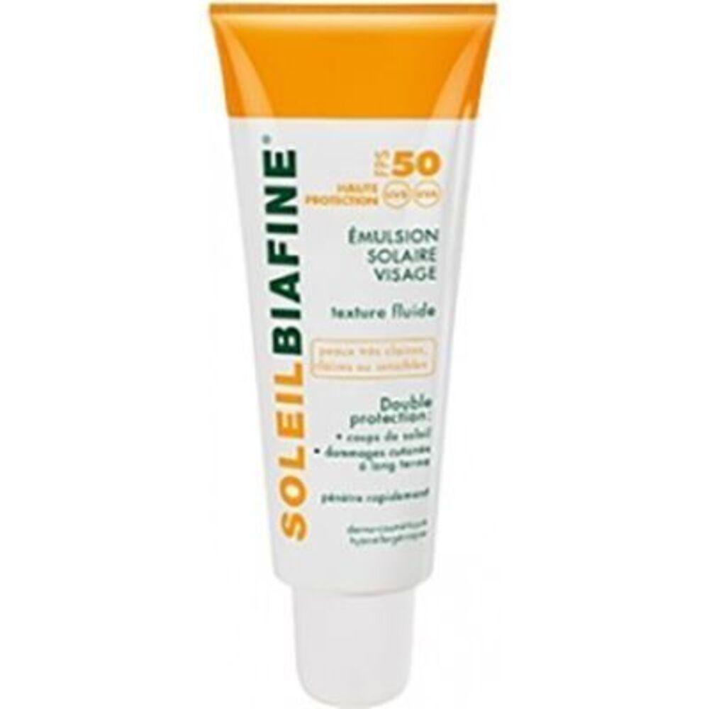 Soleilbiafine emulsion solaire visage spf50 50ml - soleilbiafine -226062