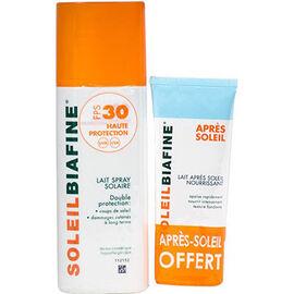 Soleilbiafine lait spray solaire spf30 200ml + après-soleil 50ml offert - soleilbiafine -226061
