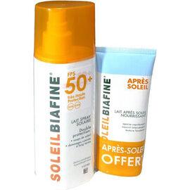 Soleilbiafine lait spray solaire spf50+ 200ml + après-soleil 50ml offert - solaire - soleilbiafine -11824