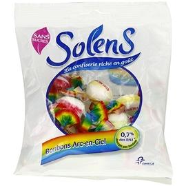 Solens bonbons arc en ciel - 100.0 g - confiserie sans sucre - solens -8401
