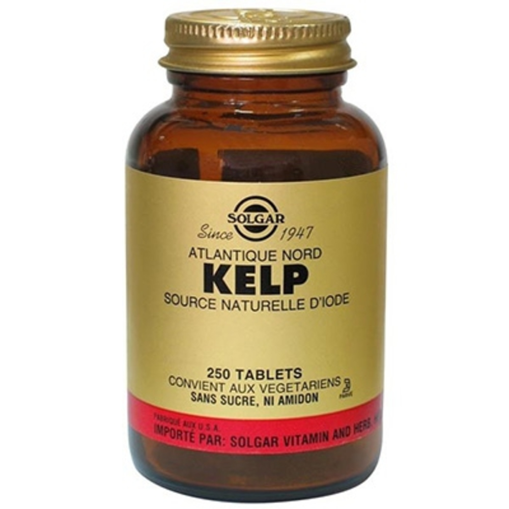 Solgar kelp source naturelle d'iode - 250 tablettes - solgar -210974