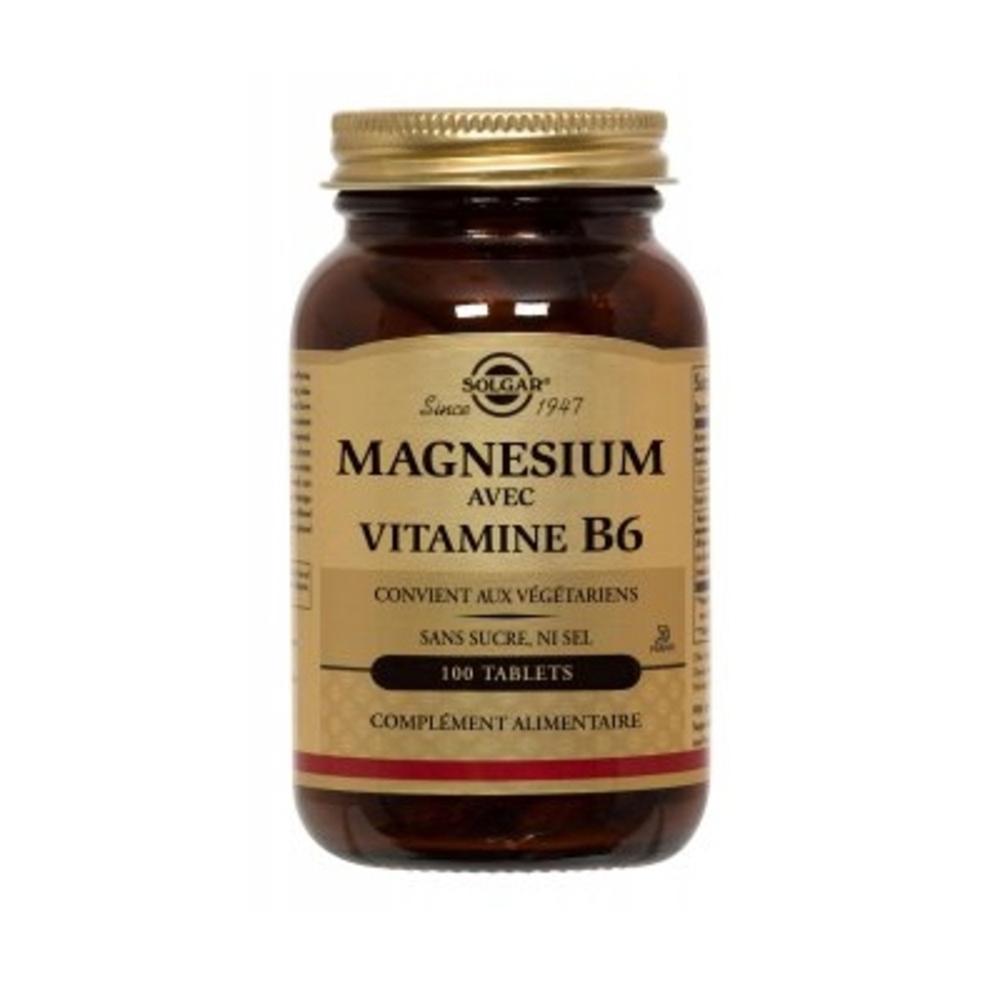 Solgar magnésium vitamine b6 - 100.0 unites - minéraux - solgar -140963