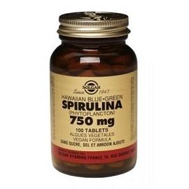 Solgar spiruline 750mg - 100.0 unites - suppléments alimentaires - solgar -140978