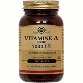 Solgar vitamine a sèche 5000 ui 100 tablets - solgar -226228