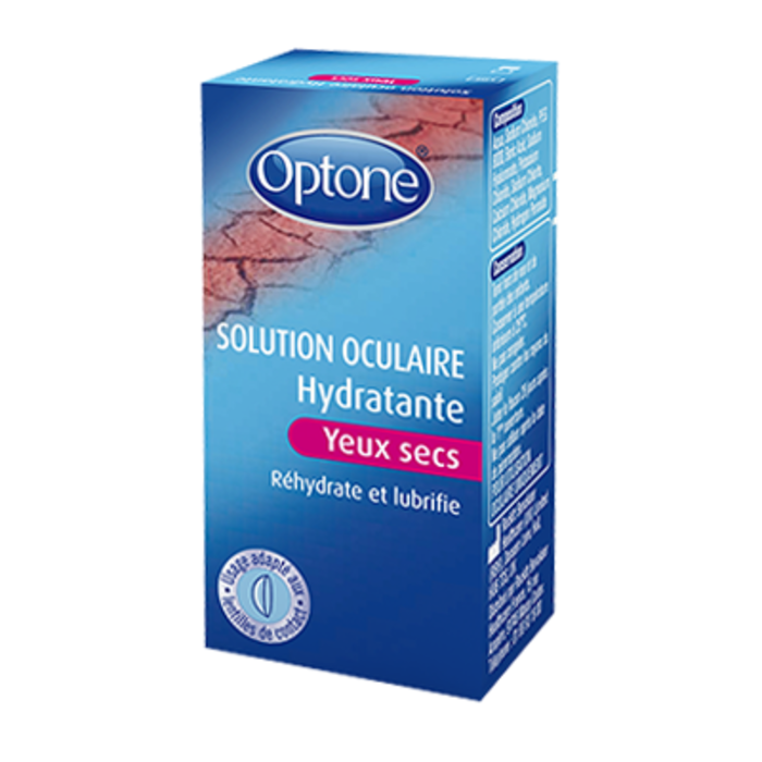 Solution oculaire hydratante yeux secs 10ml Optone-185412