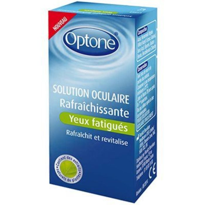 Solution oculaire rafraîchissante yeux fatigués 10ml Optone-185411