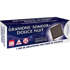 Somdor+ douce nuit 15 carrés de chocolat - granions -212639
