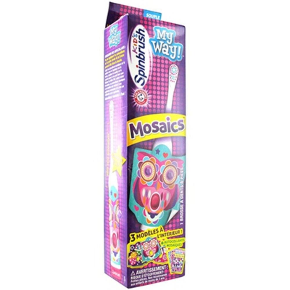 Spinbrush mosaics kids my way brosse à dents enfants - spinbrush -205809