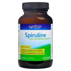 Spiruline comprimés 500mg - 200.0 unites - spiruline de californie - natésis Source de Phytonutriments, anti-oxydants, Vitamines et Minéraux-9500
