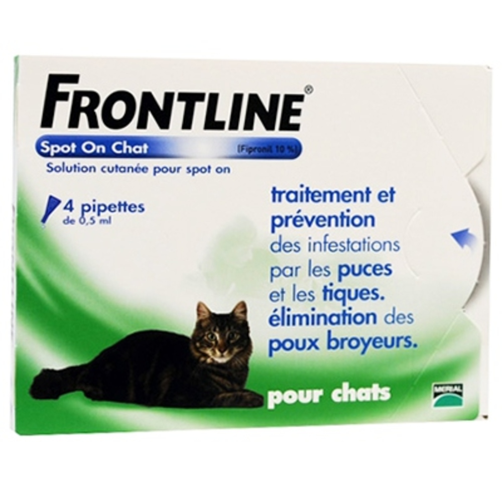 Spot-on chat - 4 pipettes - frontline -190365