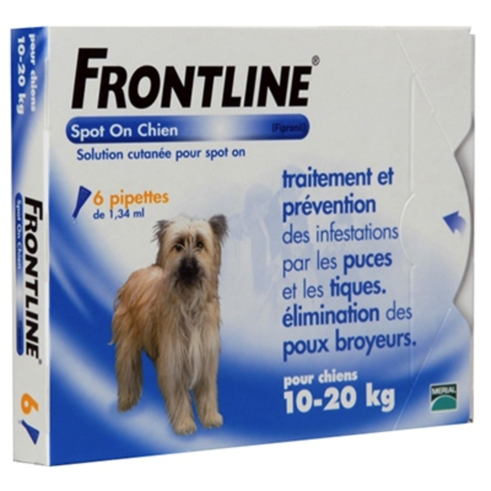 Spot-on chien 10-20 kg - frontline -190363