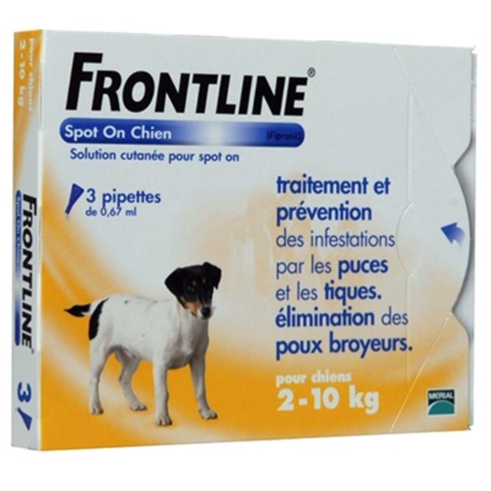 Spot-on chien 2-10 kg Frontline-190370
