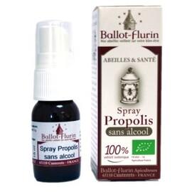 Spray à la propolis sans alcool bio - 15.0 ml - apithérapie pure - ballot flurin Soin confort réhydratant et purifiant-11566