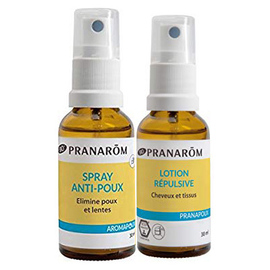 Spray anti-poux 30ml + lotion répulsive 30ml - pranarom -221797