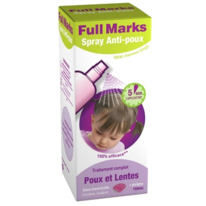 Spray anti-poux Full marks-205423
