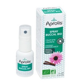 Spray buccal propolis, échinacéa, he orange douce et thym bio - 20.0 ml - hygiène et soin buccal - aprolis -14825